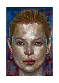 Reconstructed face (Kate Moss) I